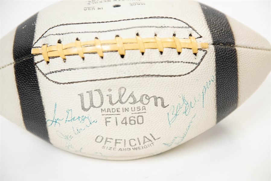 RARE 1963 Cleveland Browns Team Signed Wilson Model Football w. Jim Brown, Groza, + (33 Total Signatures!) - JSA LOA