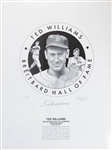 "19""x25"" Ted Williams Signed Limited Edition C. Paluso Print (#ed out of 50!)"