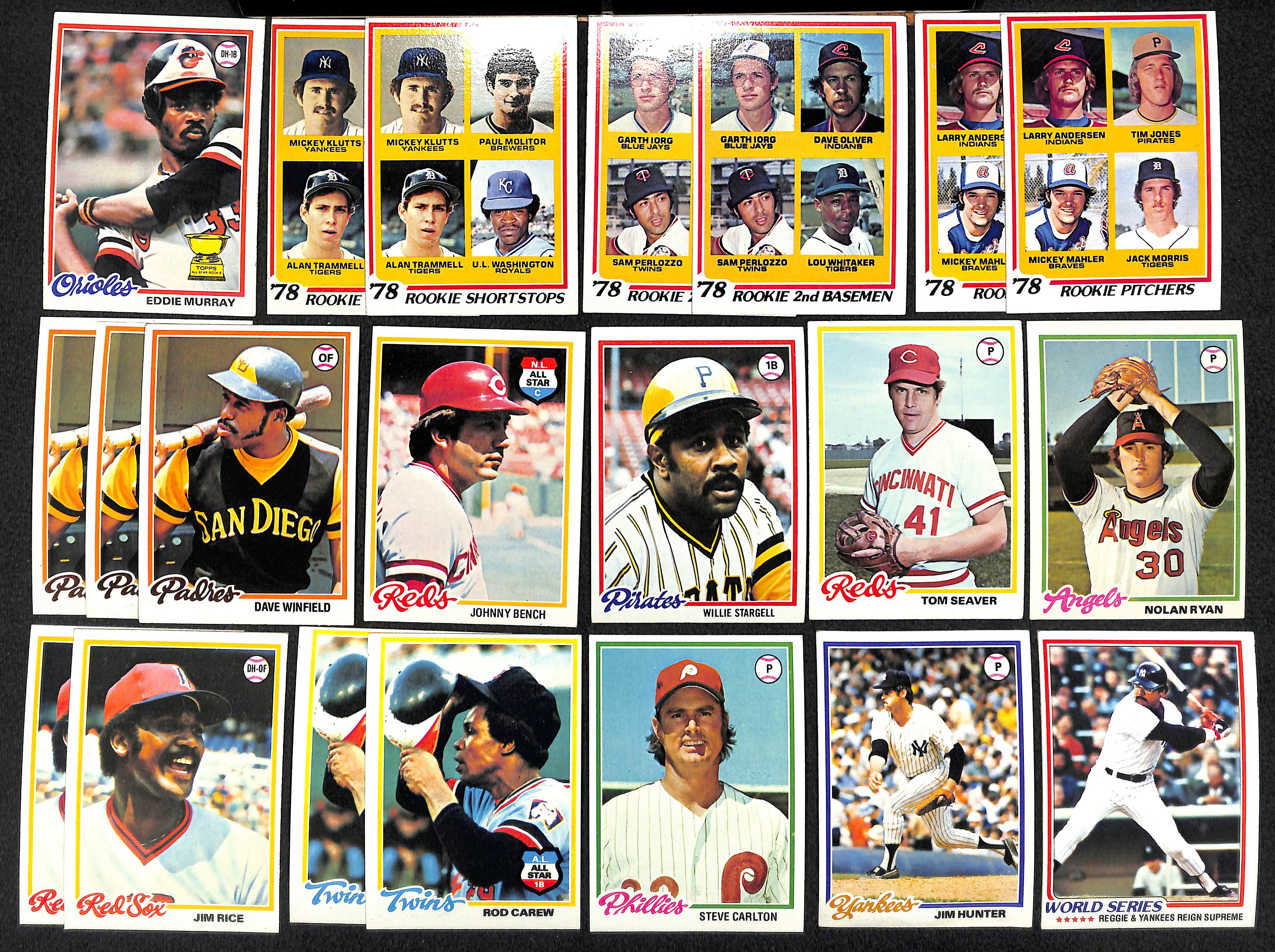 Lot Detail Lot Of 1500 Assorted 1978 Topps Baseball Cards