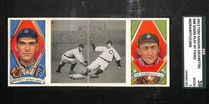 1912 T202 Hassan Cigarettes Ty Cobb Good Play at Third SGC 30 (2) Good