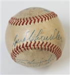1947 WS Champion New York Yankees (and 2 others) Signed Reach Official American League Baseball (w/ Joe DiMaggio) - 11 Signatures