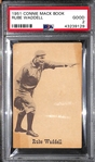 1951 Rube Waddell - Connie Mack Book Card PSA 2