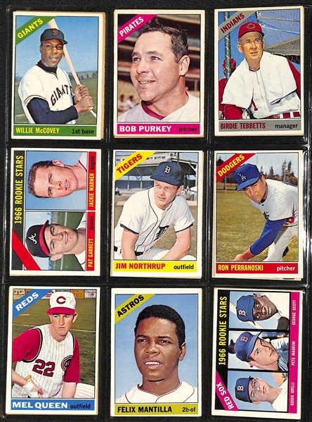 1966 Topps Baseball Near Complete Set - Missing Only 3 Cards - w. Jackson PSA 5