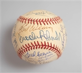 1970 Baltimore Orioles Team Signed World Champion Baseball (23 Signatures inc. B. Robinson, F. Robinson, Palmer, Weaver, Powell, Blair, and more) - JSA Auction Letter
