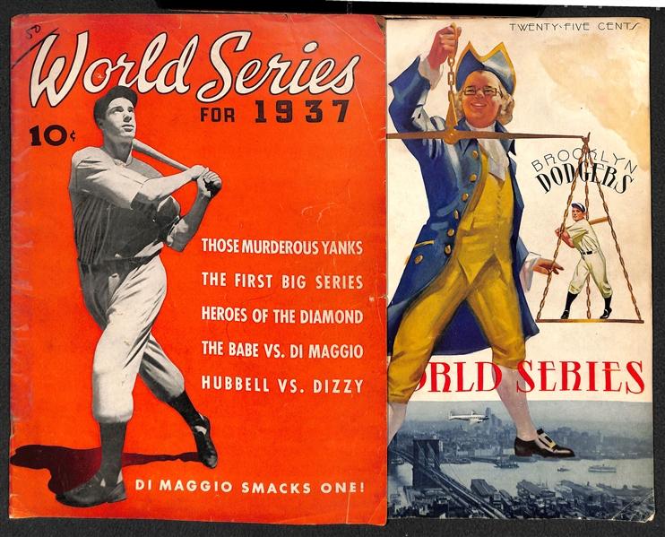 New York Yankees vs Brooklyn Dodgers 1941 World Series program baseball card