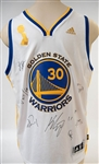 "2015-2016 Steph Curry Adidas ""Swingman"" Team Signed Golden State Warriors Jersey (Inc. Klay Thompson and 7 Others) - JSA LOA"