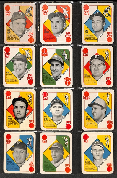 1951 Topps Red Back Complete Set (All 52 Cards) - Many in Pack Fresh Condition!