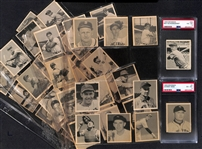 1948 Bowman Baseball Set (Missing 6 Cards Above) Mostly Moderate to High Grade - Inc. Johnny Mize PSA 6 and Red Schoendienst RC PSA 4