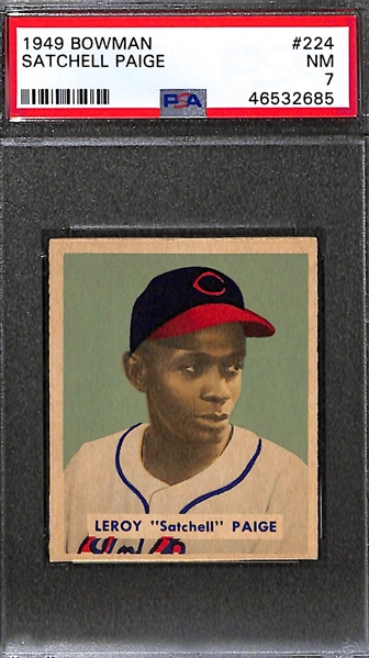 1949 Bowman Satchell Paige (#224) Graded PSA 7