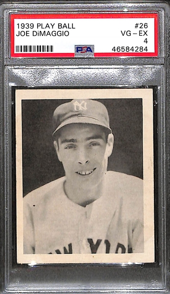 1939 Play Ball Joe DiMaggio (#26) Rookie Card Graded PSA 4