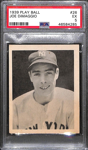 1939 Play Ball Joe DiMaggio (#26) Rookie Card Graded PSA 5