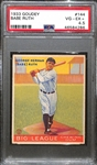 1933 Goudey Babe Ruth Card (#144) Graded PSA 4.5