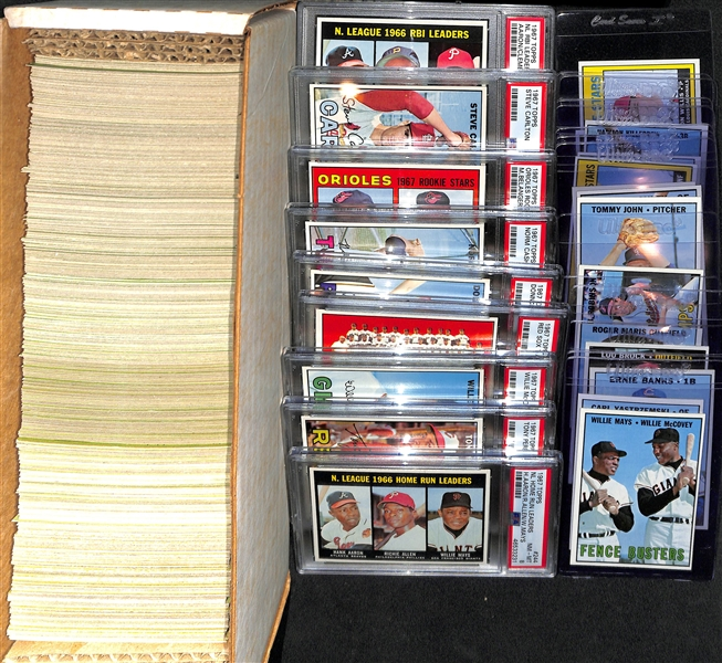 High-Quality 1967 Topps Set (Missing 10 Cards Above) - Mostly Pack-Fresh Cards - Include 9 PSA Graded Cards