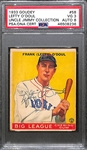1933 Goudey Lefty ODoul #58 PSA 3 (Autograph Grade 8) - Pop 2 - Highest Grade of Only 9 PSA Examples - (d.1969)