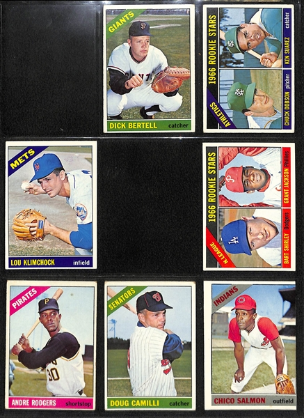 1966 Topps Baseball Near Complete Set (Missing Only 19 Cards)