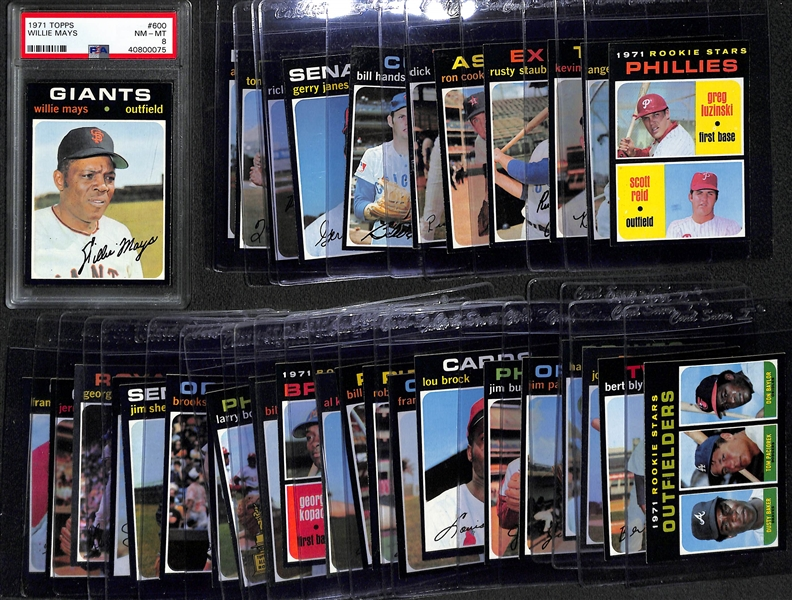 1971 Topps Baseball Complete Set (All 752 Cards!) - Inc. PSA 8 Willie Mays
