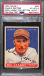 "1933 Goudey Charlie ""Red"" Ruffing #56 PSA 4 (Autograph Grade 7) - Only 18 PSA/DNA Exist w. Only 1 Graded Higher! (d. 1986)"