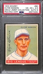 1933 Goudey Clyde Manion #80 PSA 4.5 (Autograph Grade 9) - Pop 2 - Highest Grade of Only 4 PSA Examples - (d. 1967)