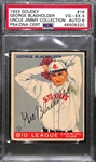 1933 Goudey George Blaeholder #16 PSA 4 (Autograph Grade 6) - Pop 1 - Highest Grade of Only 5 PSA Examples - (d. 1947)