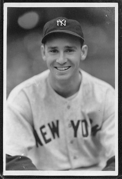 Lot of (3) 1930s Yankees Type 1 Photos by George Burke (Joe Gordon, Red Ruffing, Tony Lazzeri)