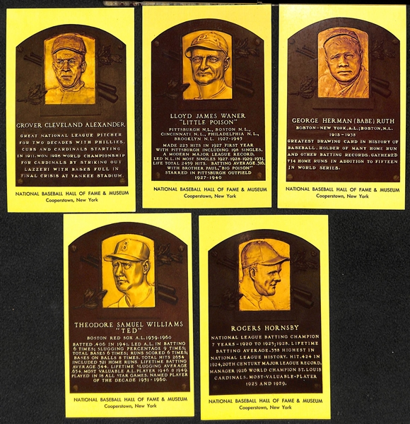 Lot of (100+) 1964-70s Hall of Fame Plaque Cards and (40+) 1973 TCMA Hall of Fame Cards