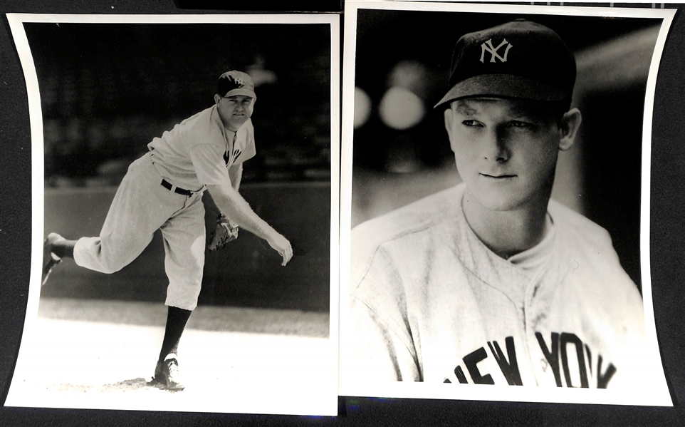 Lot of (10) Vintage Yankees Photos Stamped by Photographer Don Wingfield (Type 4 Photos)