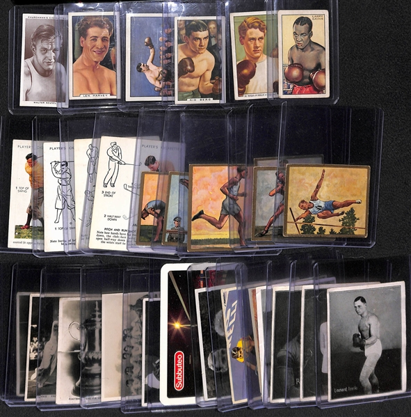 Lot of (29) Early 1900s-1920s Cigarette Cards - Athletes/Sports Figures from US & Europe