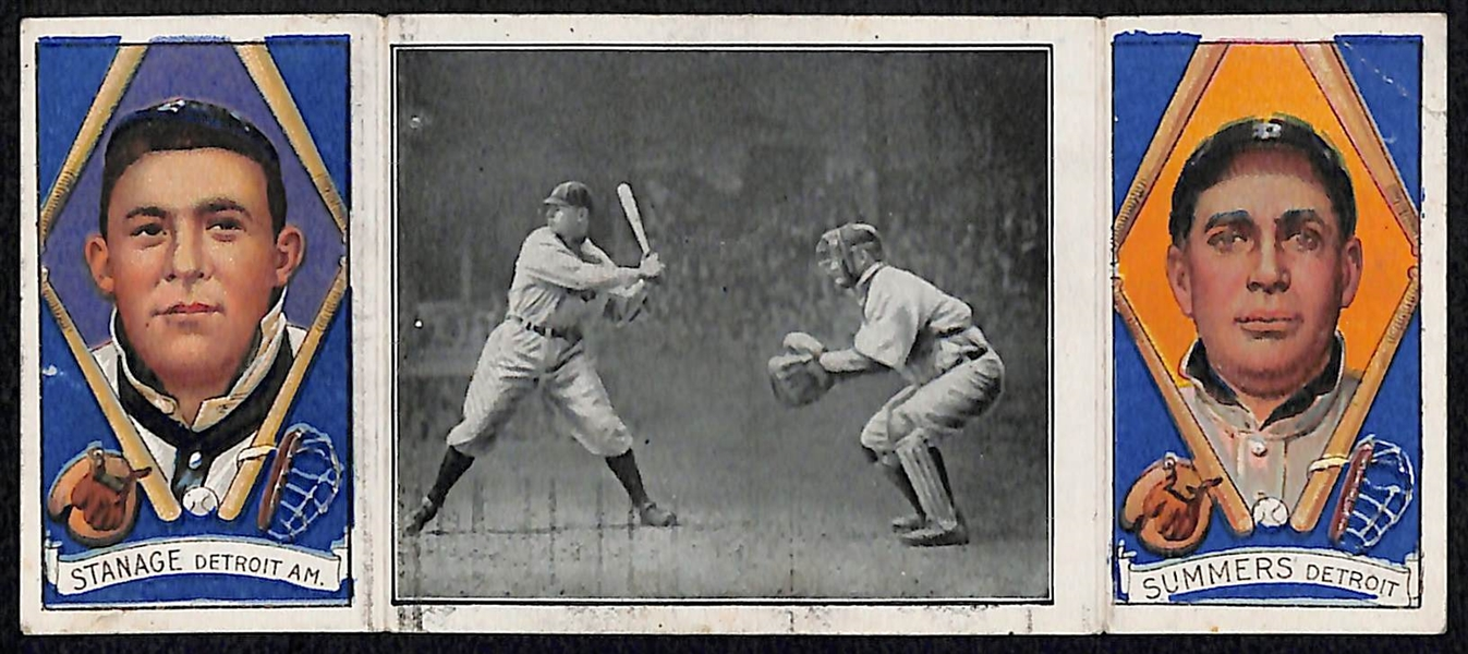 1912 T202 Hassan Triple Folder Crawford About to Smash One