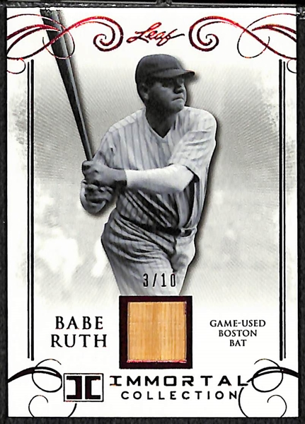 2017 Leaf Babe Ruth Immortal Collection Game Used Red Sox Bat