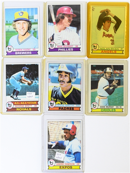 Lot of (2) Baseball Sets - 1978 Topps & 1979 Topps w. Well Centered 1979 Ozzie Smith Rookie Card