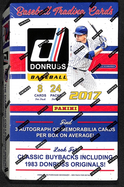 2017 Donruss Baseball Sealed Hobby Box - Potential for Aaron Judge & Cody Bellinger