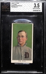 Rare 1909-11 T206 Ty Cobb (HOF) Green Background Tobacco Card Graded BVG 3.5 (Piedmont Back)