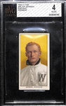1909-11 T206 Walter Johnson (HOF) Tobacco Card Graded BVG 4 (Piedmont 350, Factory No. 25)