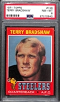 Pack Fresh 1971 Topps Terry Bradshaw #156 Rookie Card Graded PSA 8 w. Amazing Eye Appeal (Centered and Near Perfect Corners/Edges)