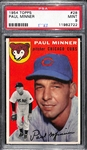 1954 Topps Paul Minner #28 Graded PSA 9 MInt