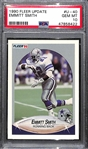 1990 Fleer Update Emmitt Smith Rookie Card #U-40 Graded PSA 10 Gem Mint