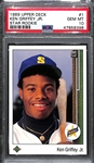 1989 Upper Deck Ken Griffey Jr. Rookie #1 Graded PSA 10 Gem Mint - HOT!