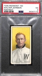 1909-11 T206 Walter Johnson (HOF) Portrait Tobacco Card Graded PSA 3 (Piedmont 150, Factory No. 25)