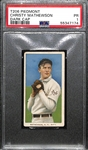 1909-11 T206 Christy Mathewson (HOF) Dark Cap Tobacco Card Graded PSA 1 (Piedmont 150, Factory No. 25)